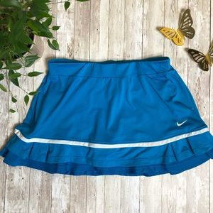 NIKE DRI FIT blue layered tennis skirt-sz SM